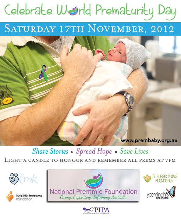 Facebook poster for World Prematurity Day 2012.