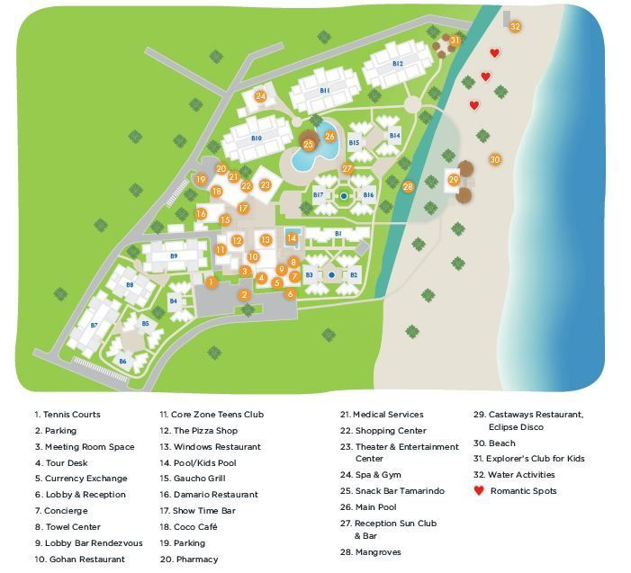 Sunscape Puerto Plata Resort Map ~ Unlimited Vacation Club