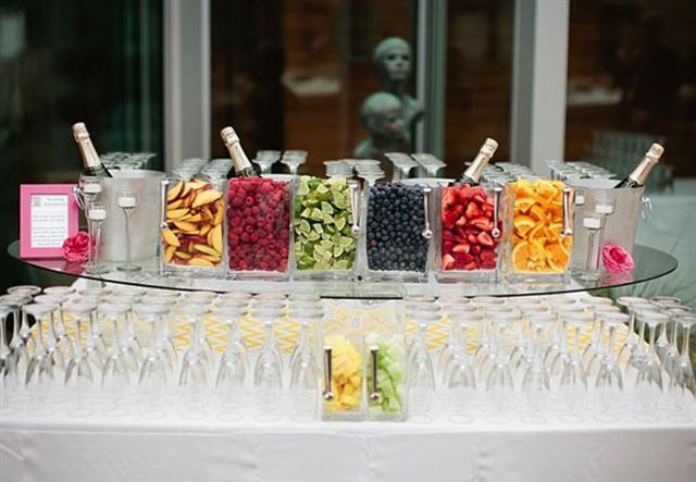 sangria bar we can display the fruits and you add them to your sangria whatever you want in your sangria i mean