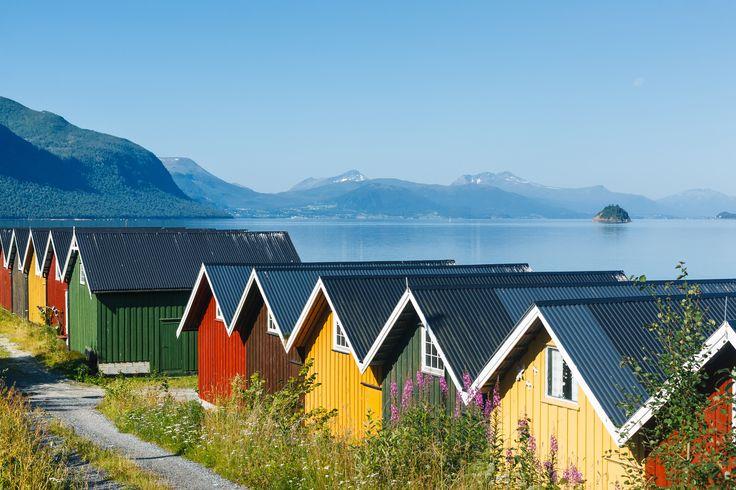 Fargerikt ved fjorden - God sommer #nymalt