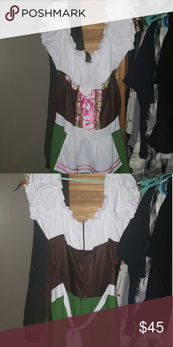 Plus size heidi the bar maid costume Plus size heidi the bar maid costume *** i have the shoes to go with this size 10 if interested **** Other