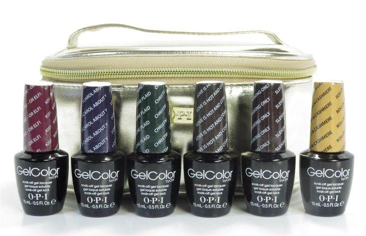OPI Gel Nail Polish Gwen Stefani Holiday Set With Carry on Bag 6 Color Set #OPI