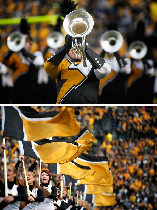 Marching Mizzou performs before the Missouri football game against Vanderbilt. RollTideWarEagle.com sports stories that inform and entertain, plus #collegefootball rules tutorial. Check out our blog and let us know what you think. #Alabama  #Mizzou