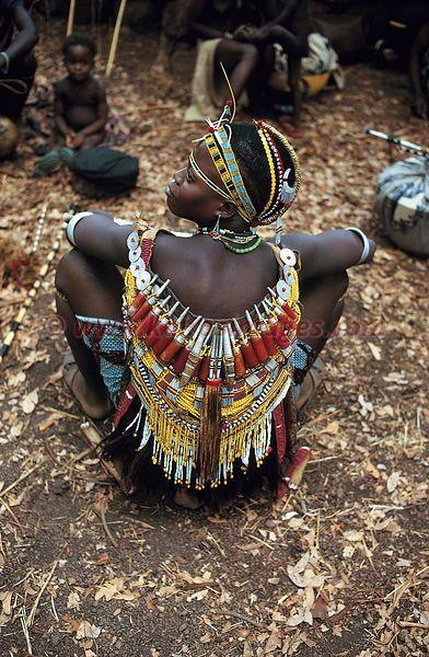 Afrique, Senegal, pays Bassari, le Fouta-jallon, fetes d'initiation et passage de classe d'age