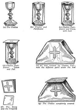Descriptions of the Mass Vessels, Vestments and parts of the Sanctuary. Perfect for teaching kids!