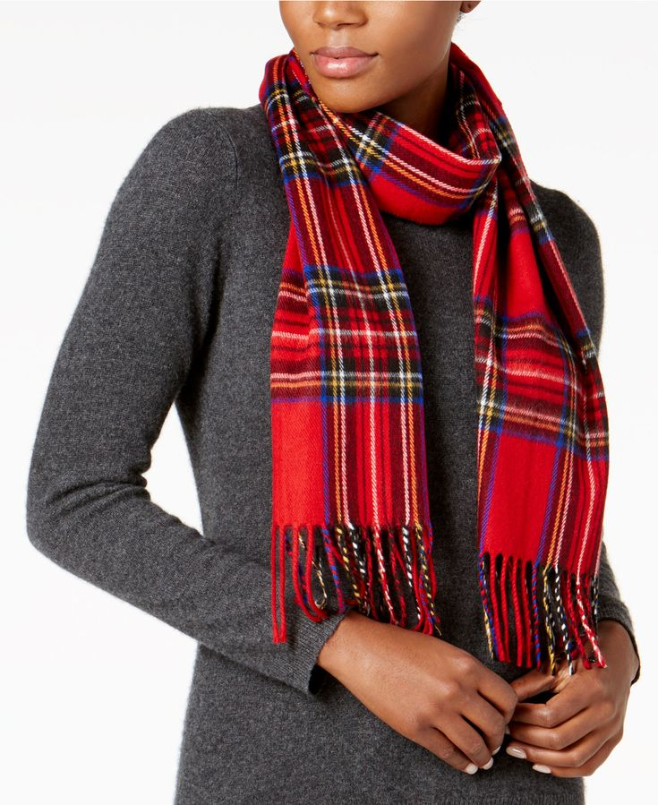 Cejon Classic Plaid Woven Scarf - Handbags & Accessories - Macy's