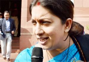 Smriti Irani calls on fortuneteller, channels smell a controversy