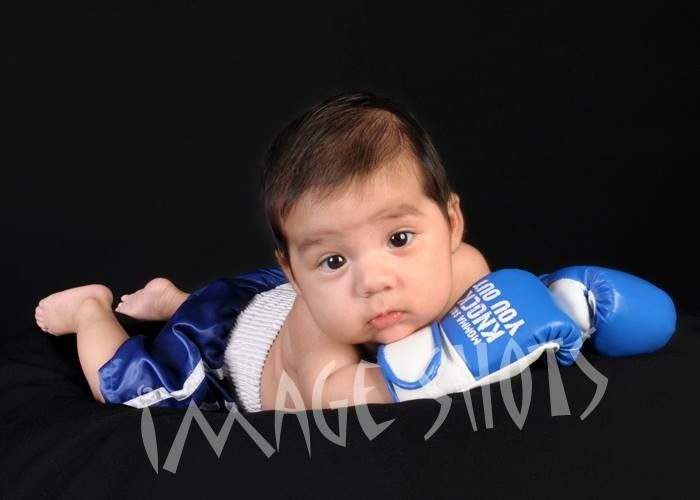Blue Momma Said Knock You Out Baby Boxing Gloves Boxing Gloves