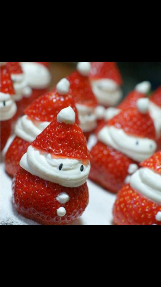 Strawberry Santa! Christmas food. OMG these are so cute