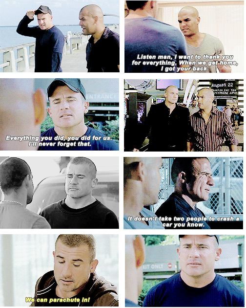 """Linc and Sucre (gif set) """"When you and Mike open that Scuba Shop, maybe there will be a job for me there.""""  """"You can count on it."""""""