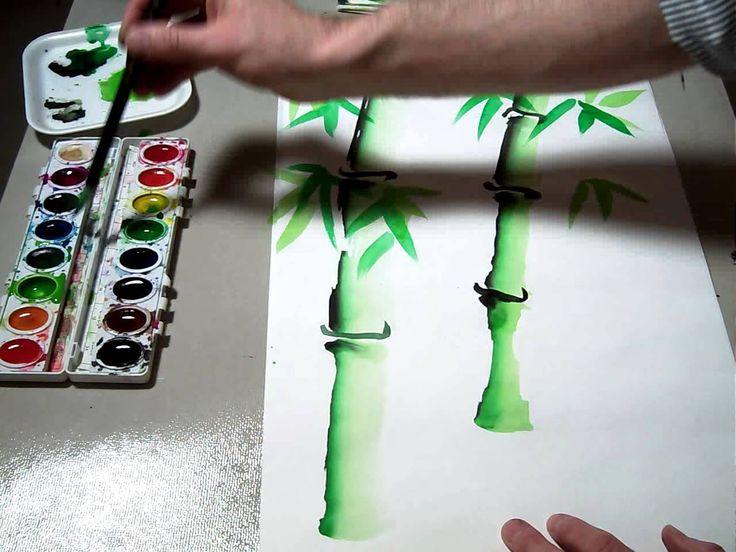 243 mejores im genes sobre sumi e en pinterest pinturas for Color bambu pintura