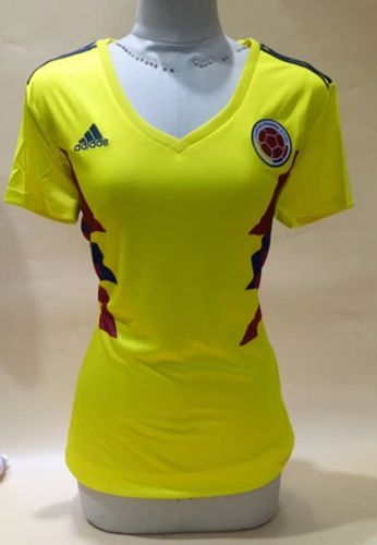 a83e1509698 2018 World Cup Colombia Home Yellow Female Thailand Soccer Jersey AAA