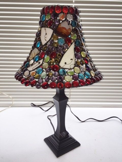 Table lamp light home decoration hand made art glass Tiffany by BeatasLampBoutique on Etsy