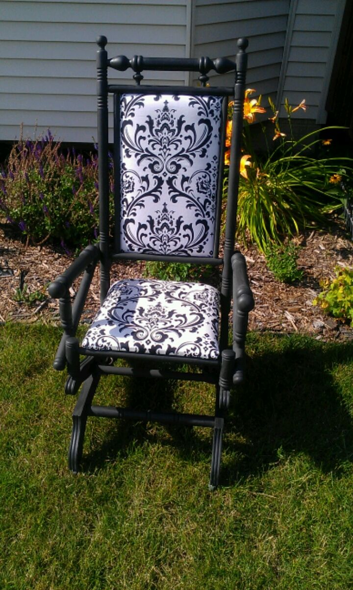 Thrifty Treasures Antique Rocking Chair Gets A Makeover