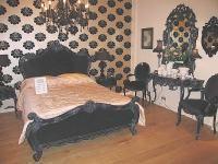 Black bedroom furniture ebay with unique black bed set and wallpaper decorating …