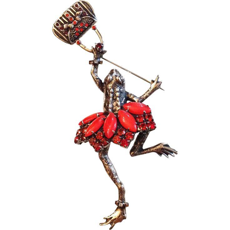 Ballerina Frog Pin