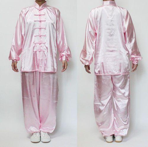 TaiChi Uniform Wushu Taiji KungFu uniforms TaiChiChuan Chinese Baby Pink S~XL #Unbranded