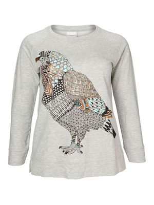 Bird printed shirt from #JUNAROSE  @JUNAROSE