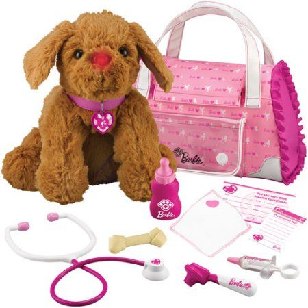 Barbie Hug 'N Heal Pet Doctor Plush Dog, Retriever, Pink