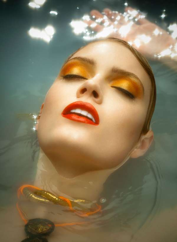 Glam Semi-Submerged Portraits - The Fashion Gone Rogue 'Deep Waters' Editorial Stars Isabelle G. (GALLERY)