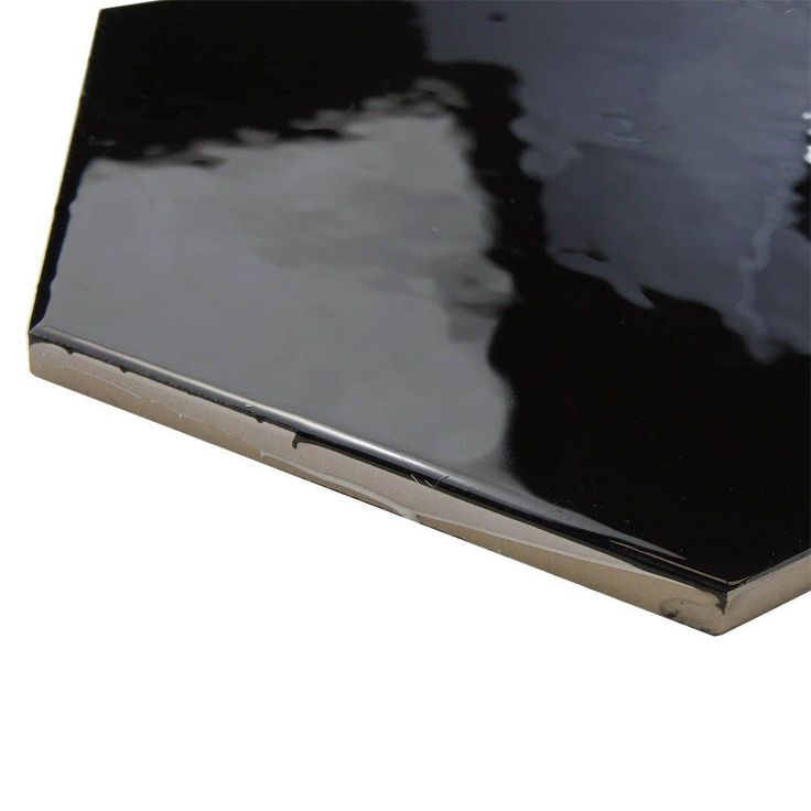 Merola Tile Hexatile Glossy Nero 7 in. x 8 in. Ceramic Floor and Wall Tile (2.2 sq. ft. / pack)-FEQ8HGN - The Home Depot
