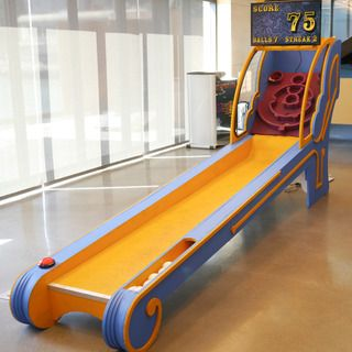 """Skee Ball Machine: a great DIY idea brought to you by crafter, handy-man, and all-around fun-guy, """"fungus amungus"""" (via Instructables)."""