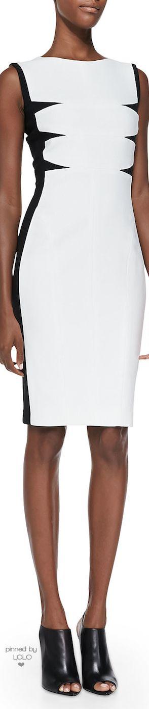 Narciso Rodriguez Triangular-Inset Scuba Dress | LOLO❤