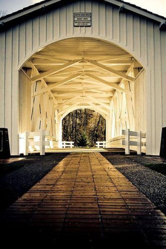 Jordan Covered Bridge In Oregon