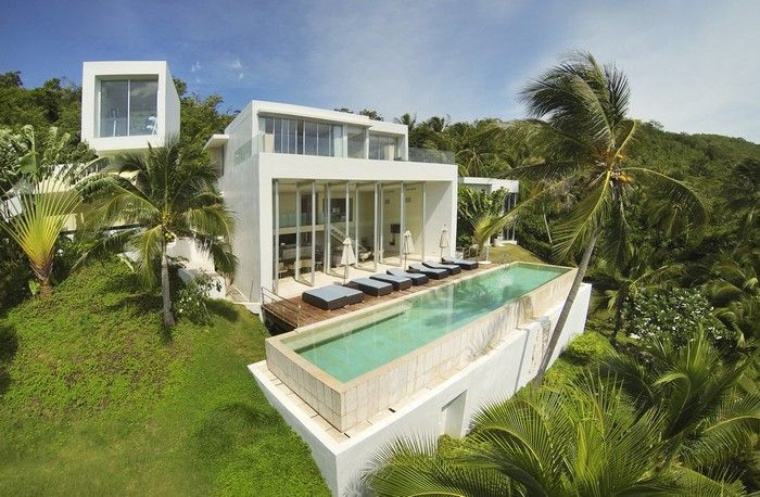 Luxury Contemporary 4-Bed Seaview Villa w/ Beach Access  --- from 1200$ per night --- Koh Samui Luxury Real Estate