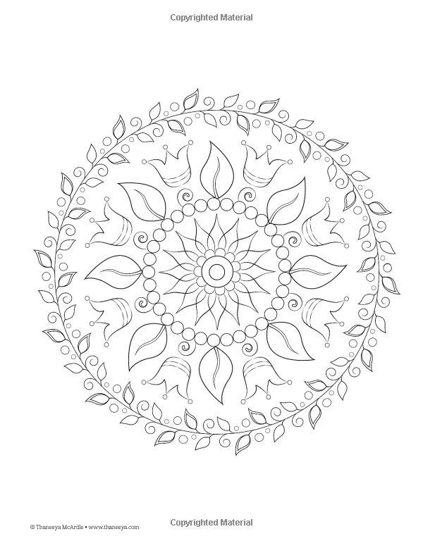 Nature Mandalas Coloring Book Design Originals Thaneeya McArdle 9781574219579 AmazonSmile