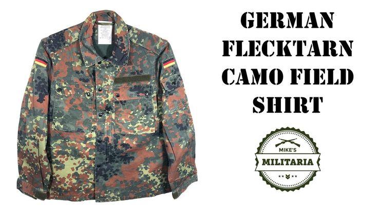 Get your GENUINE Army Surplus German Flecktarn Camo Field shirt HERE: https://www.mikesmilitaria.com/products/german-flecktarn-field-shirt-used
