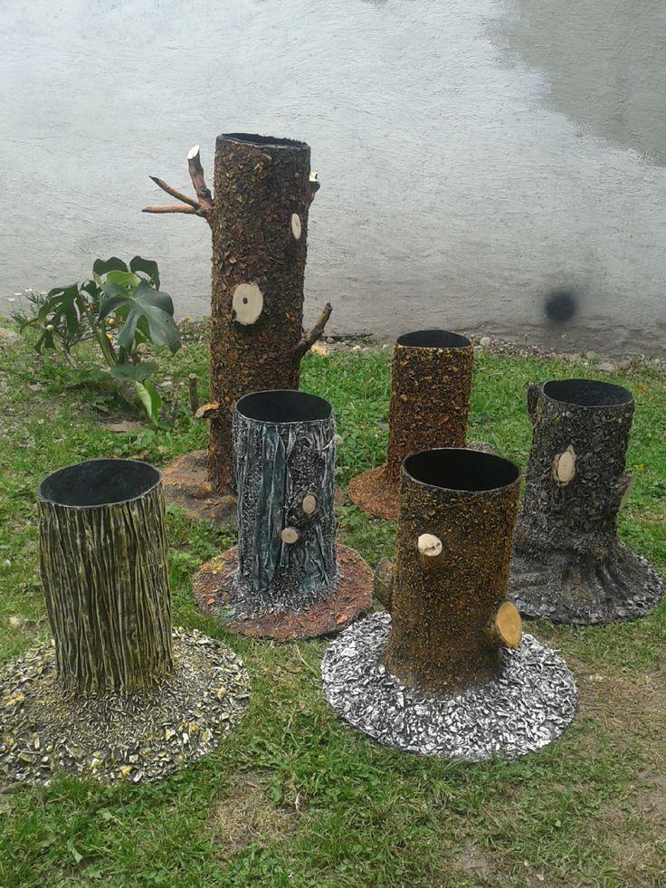 troncos de flores