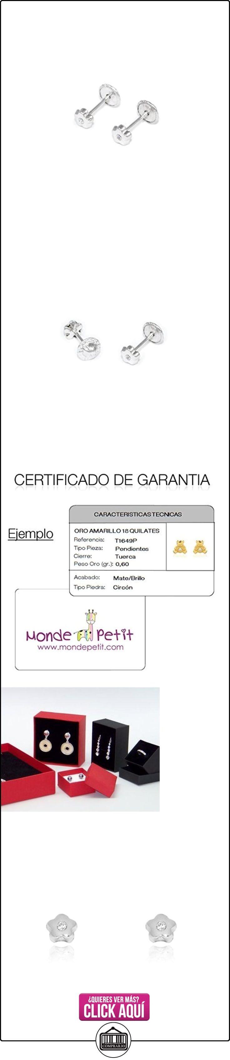 Pendientes Bebe Oro Blanco Chaton Margarita  ✿ Joyas para mujer - Las mejores ofertas ✿ ▬► Ver oferta: https://comprar.io/goto/B01CJX90ME
