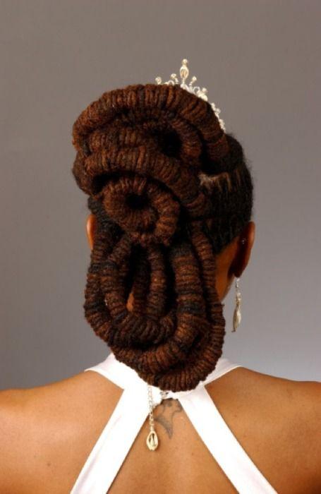 Regal. <3 the color: Locs Style, Dreadlocks Hairstyles, Fashion Hairstyles, Bridal Hair, Natural Hair, Hair Style, Wedding Hairstyles Dreadlocks, Thin Dreads, Beautiful Locs