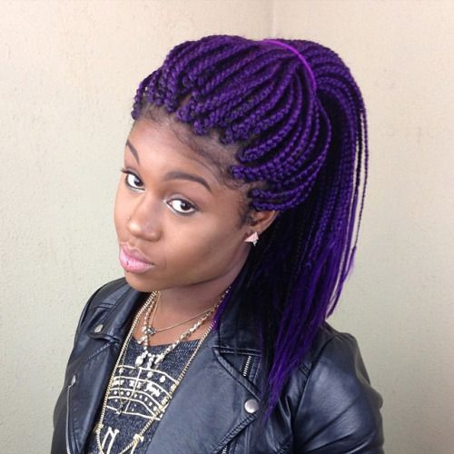 Braids Hairstyle Best 40 Best Purple Box Braids Images On Pinterest  Hair Dos Braids And