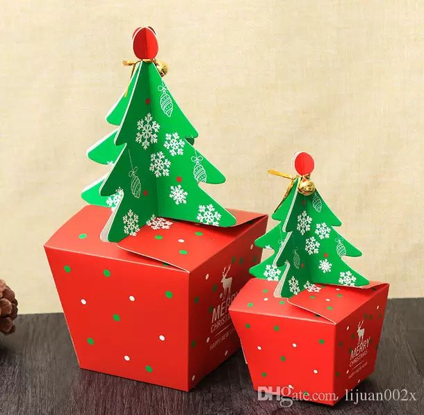 New Christmas Boxes Christmas Theme Candy Box 3d Christmas Tree Gift Box 8*8*15.5cm Large Shipping Box Cheap Packaging Supplies From Lijuan002x, $422.12| Dhgate.Com