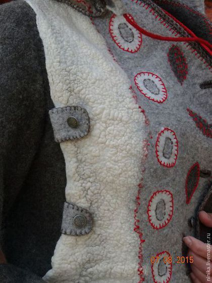 """Верхняя одежда ручной работы. Заказать """"Аура"""", войлочная куртка с капюшоном. Демидова Нина (Ninika). Ярмарка Мастеров. Одежда для женщин"""