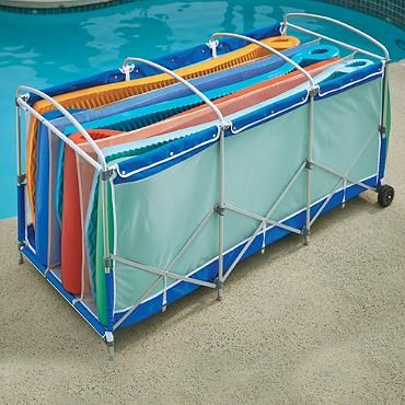 Collapsible Pool Float Storage With Cover Yard And
