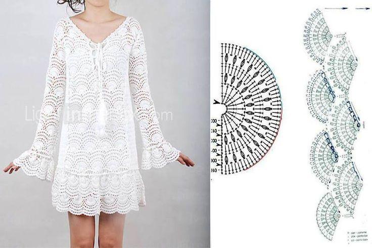 .crochet dress with pattern