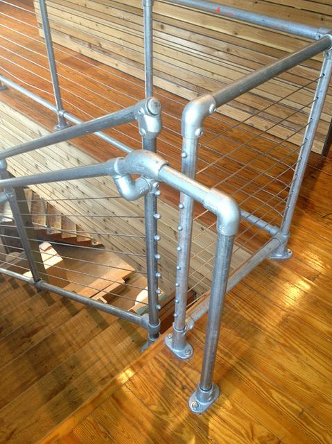 Cable Rail Kee Klamp Pipe Railing by Simplified Building Concepts, via Flickr