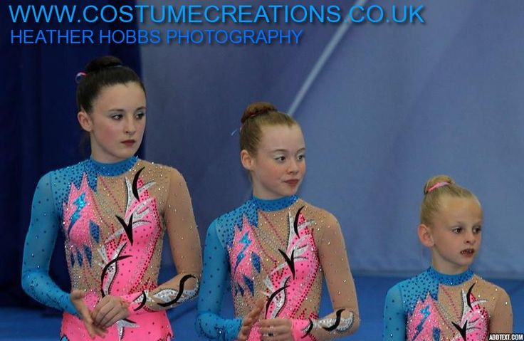 Sports Acrobatics Trio - Spelthorne  - custom made leotards by Monica Newell Costume Creations UK - London Birmingham Telford