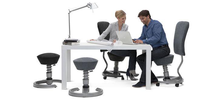Ergonomické zdravotné stoličky podporujúce dynamické sedenie. O ich výhodách sa dozviete na www.dynamicke-sedenie.sk, www.swopper.sk