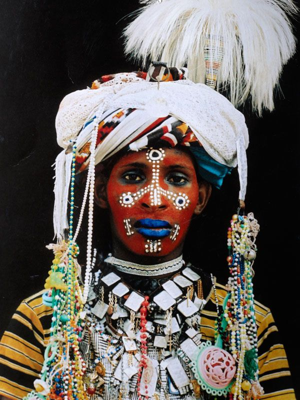 Wodaabe tribesman (love the blue lipstick)