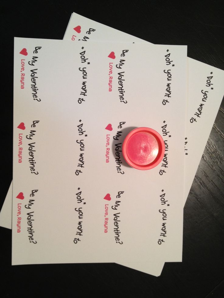 valentinecard with play doh