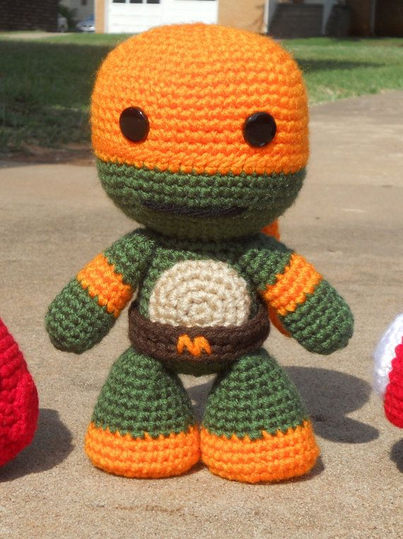 Teenage Mutant Ninja Turtle -  Crochet Michealangelo Amigurumi