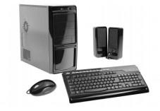 Boitier PC Noir Laqué 400W + Kit Clavier/Souris USB + HP