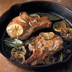 Pan-Seared #Pork Chops with Meyer Lemon