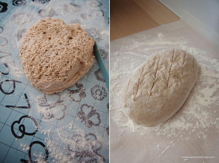 Chleb na prawie-zakwasie. Oszukany zakwas z jogurtu | Karo in the Kitchen