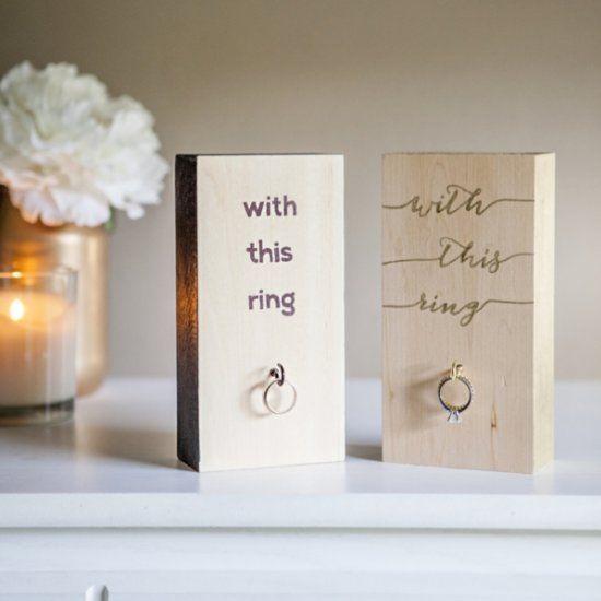DIY Wedding Ring Holder