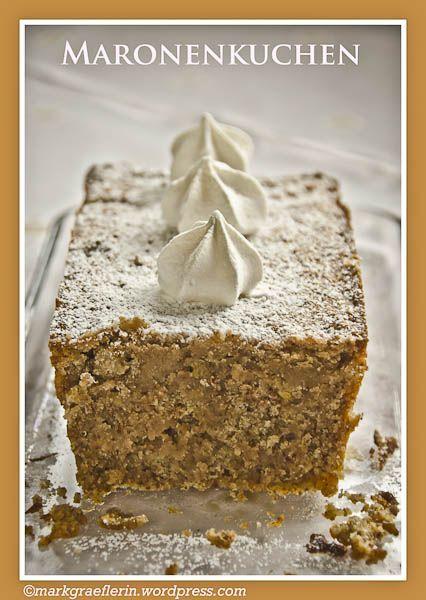 Es ist wieder Zeit für Maronen (Marroni, marrons, Esskastanien). Und wieder habe ich ein besonderes Maronen-Rezept für euch auf dem Sonntags-Kaffeetisch. In dem Kuchen ist kein Mehl und kein Backpu...